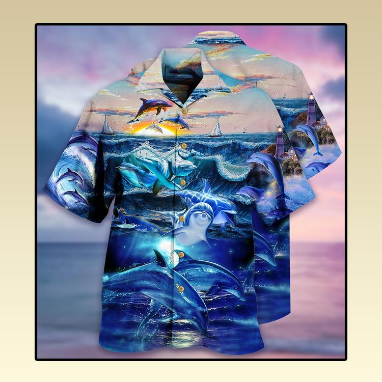 Dolphin ocean Hawaiian shirt4
