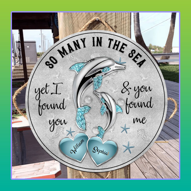 Dolphins So many in the sea custom name circle sign4