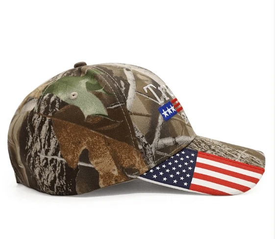 Donald Trump 2020 Hat Camo American Flag Embroidered Mossy Oak cap1