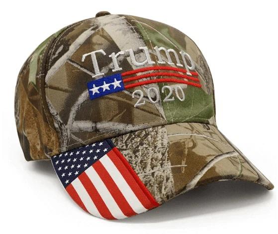 Donald Trump 2020 Hat Camo American Flag Embroidered Mossy Oak cap2