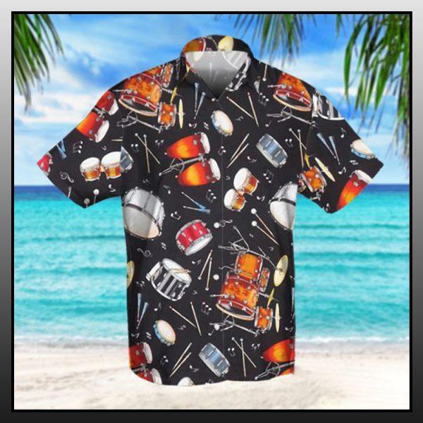 Drum retro hawaiian shirt2