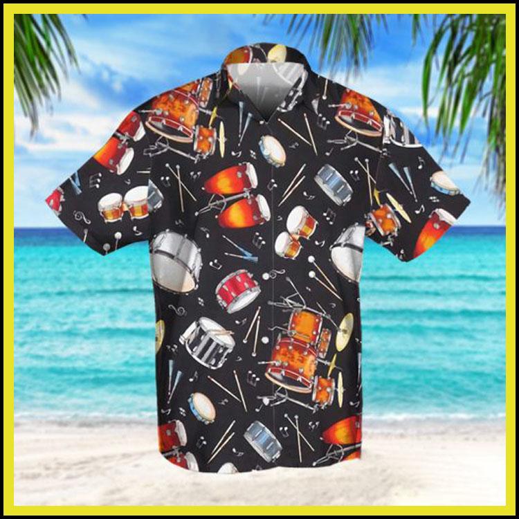 Drum retro hawaiian shirt3