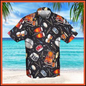 Drum retro hawaiian shirt4