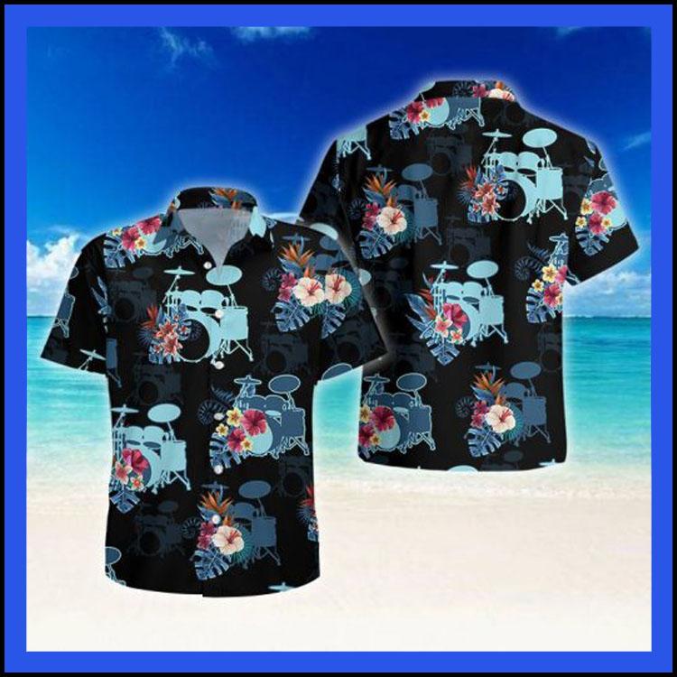 Drum tropical hawaiian shirt8