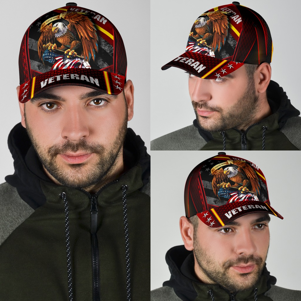 Eagle veteran American cap