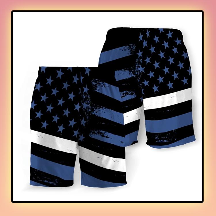 Emergency Medical American Flag Beach Short2
