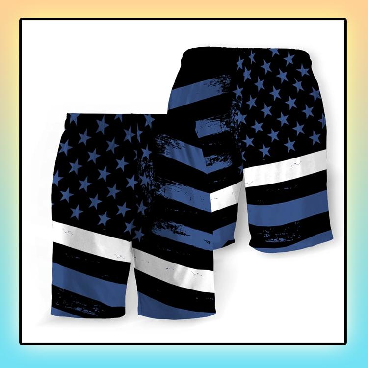 Emergency Medical American Flag Beach Short3
