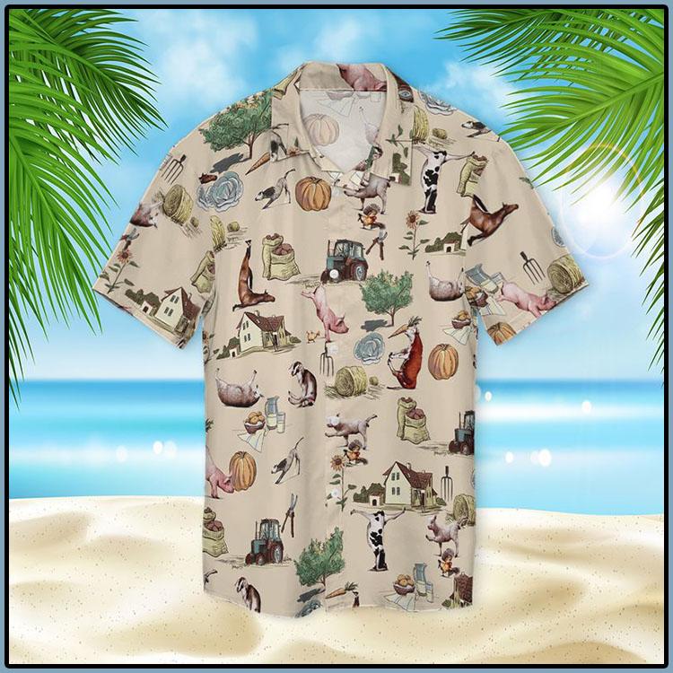 Farm Animal Yoga Pose Hawaiian Shirt6