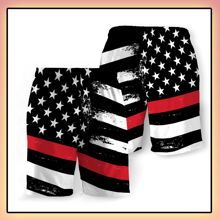 Fire Service American Flag Beach Short2