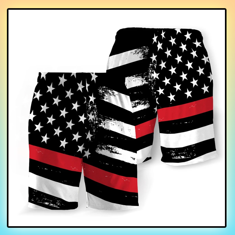Fire Service American Flag Beach Short3