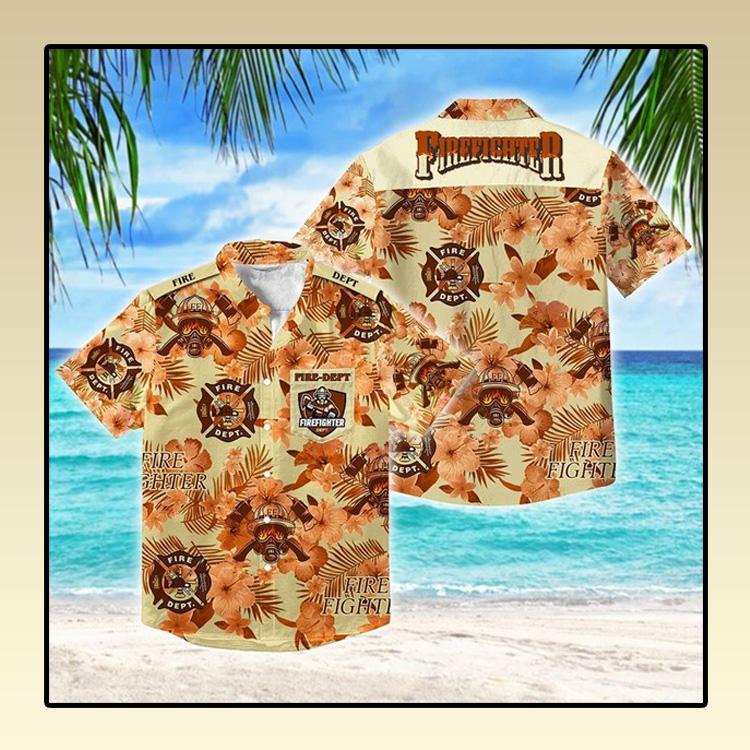 Firefighter fathers day Hawaiian Shirt 4