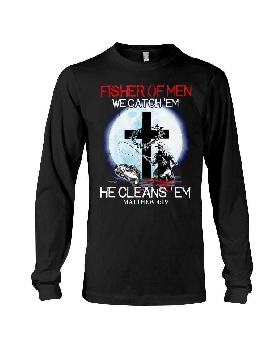 Fisher Of Men We Catch Em He Cleans Em Shirt3