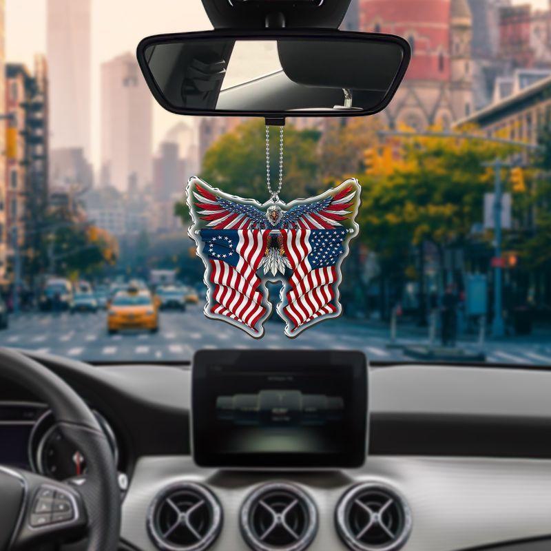 Flag Eagle car hanging Ornament
