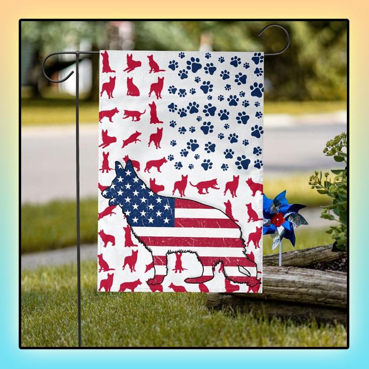 GSD Amercian house flag and garden flag1