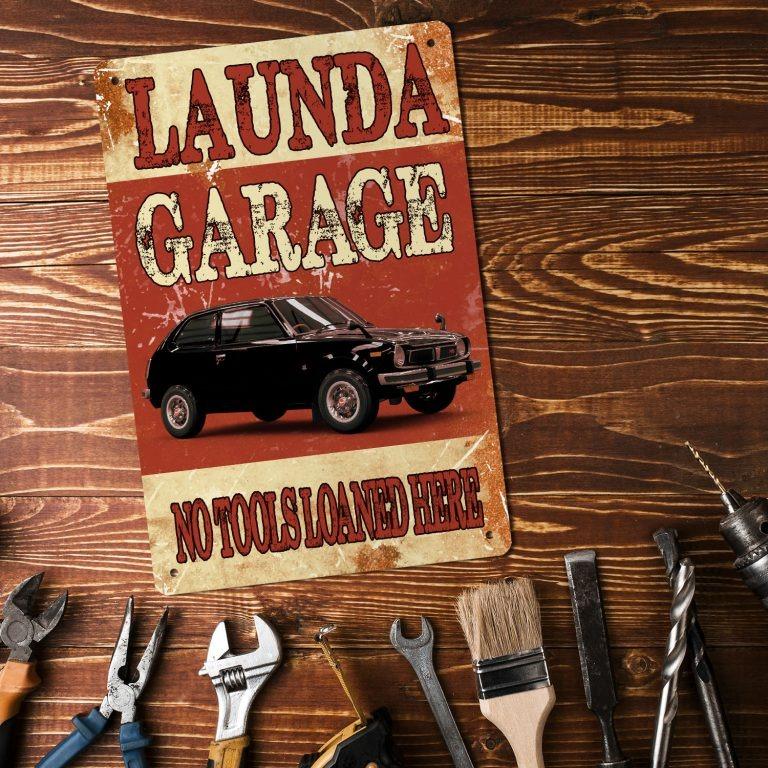 Garage no tools loaned here custom name metal sign4