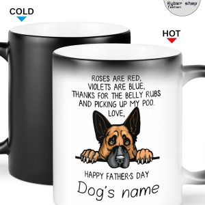 German shepherd happy father day roses are red violets are blue thanks for the belly rubs mug 4