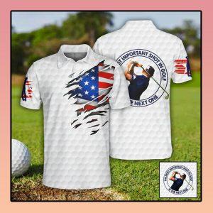 Golf US Flag Polo Shirt3