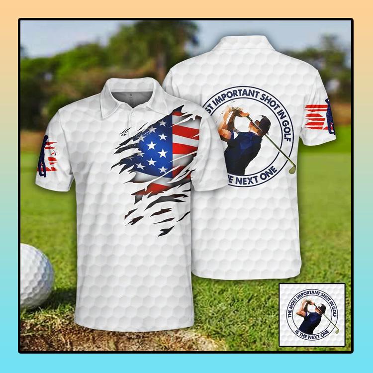 Golf US Flag Polo Shirt4