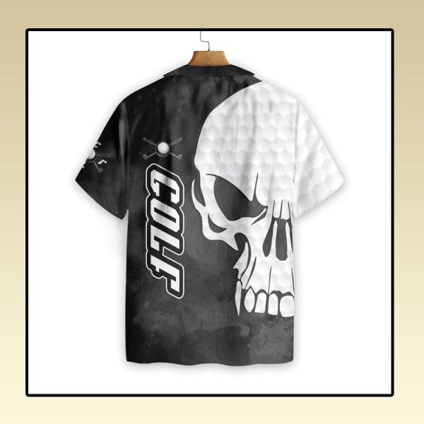 Golf and Skull hawaiian shirt2