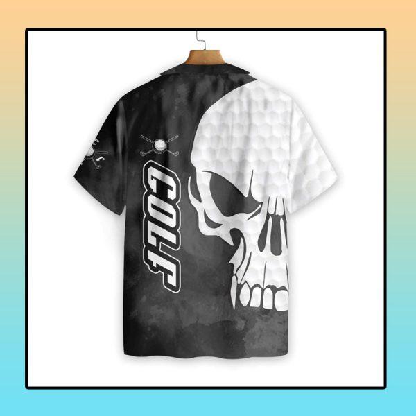 Golf and Skull hawaiian shirt4
