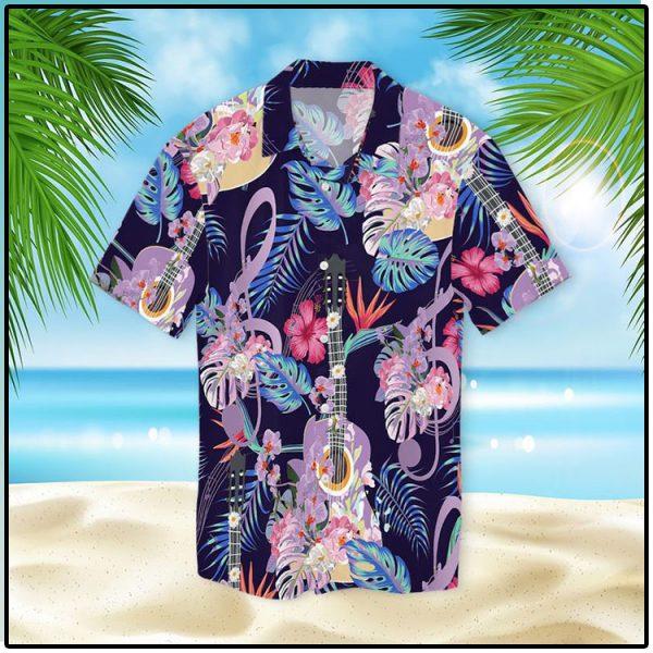 Guitar With Treble Clef Hawaiian Shirt2