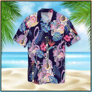 Guitar With Treble Clef Hawaiian Shirt3