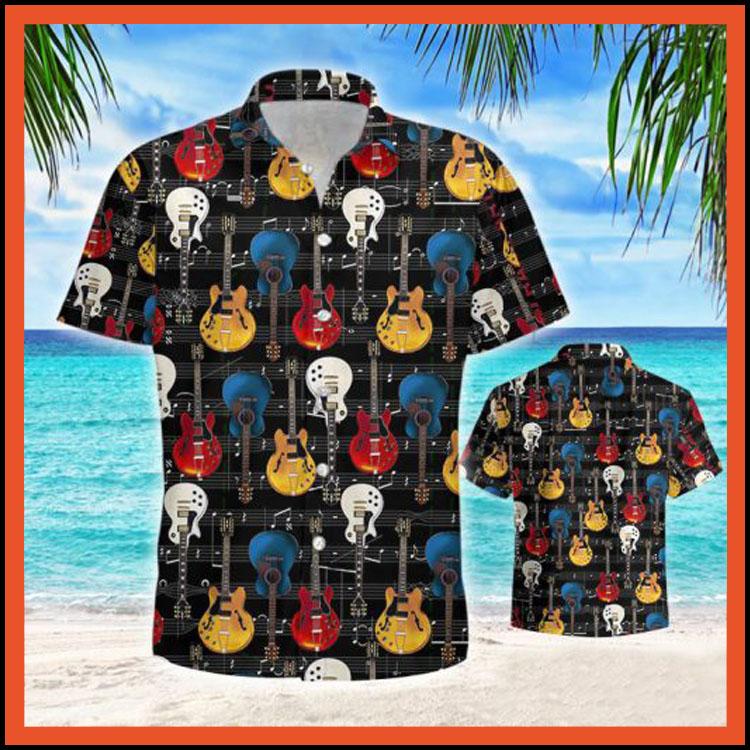 Guitar retro hawaiian shirt8