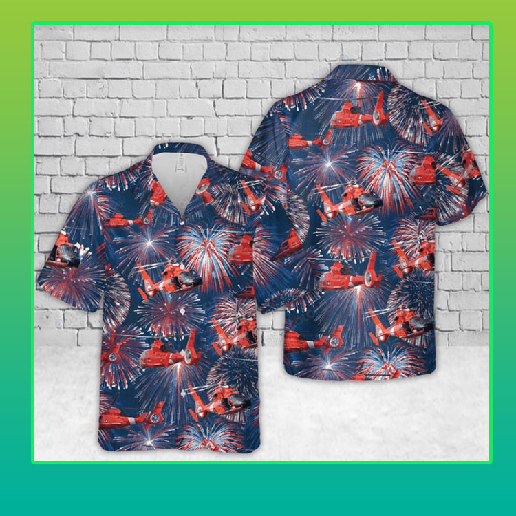 Helicopter firework hawaiian shirt4