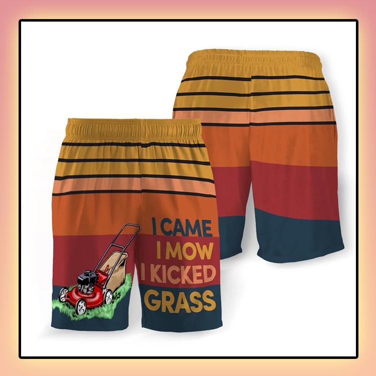 I Came I Mow I Kicked Grass Beach Short3