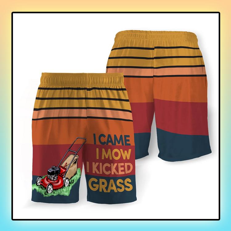 I Came I Mow I Kicked Grass Beach Short4