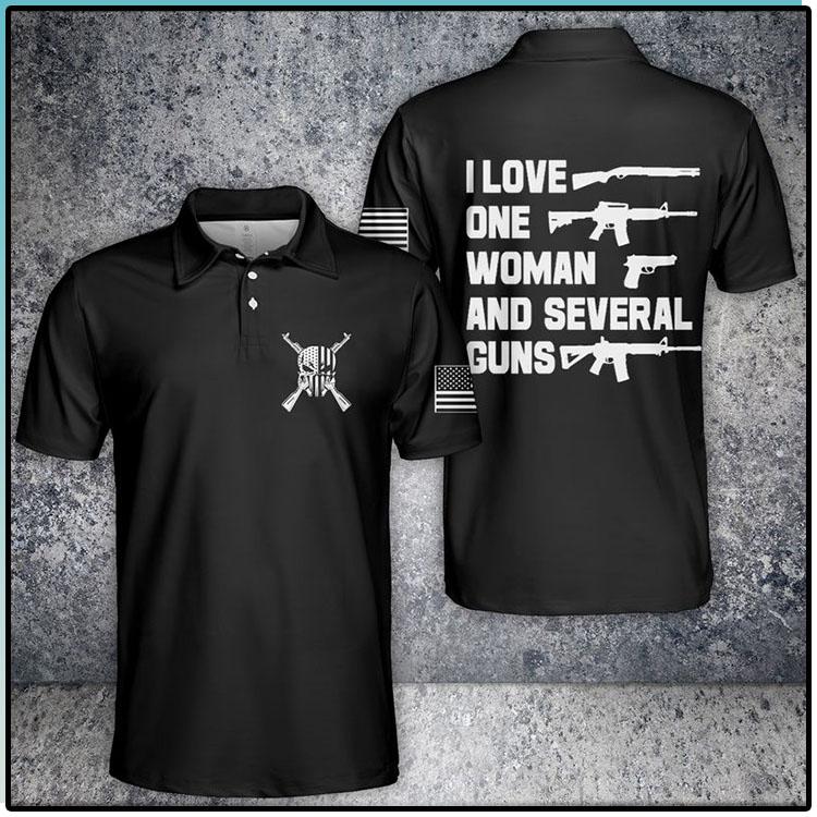 I Love One Woman And Several Guns Polo Shirt2