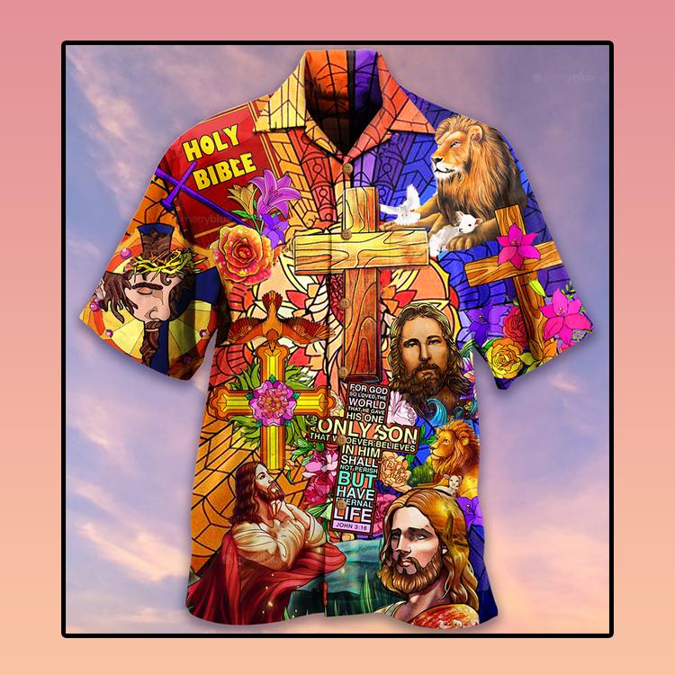 Jesus lion and flowers Hawaiian shirt3