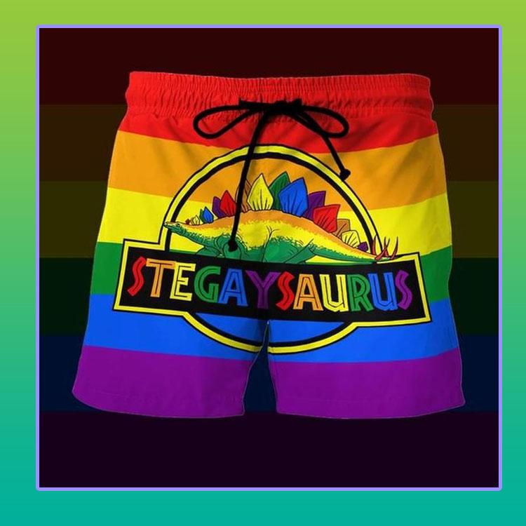 LGBT Stegaysaurus short pants4