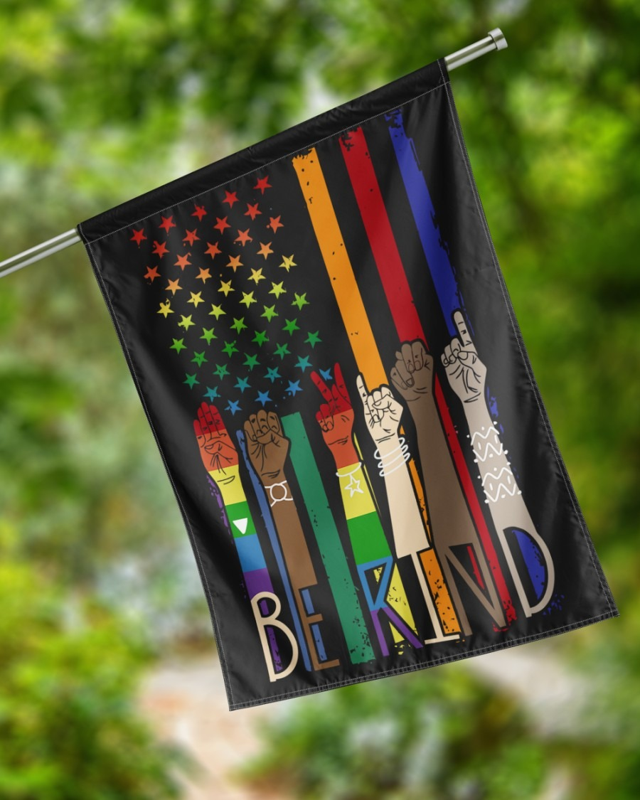 LGBT be kind American flag4