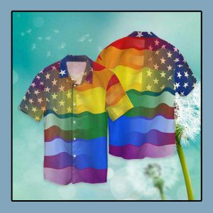 LGBT love America peace Hawaiian shirt1