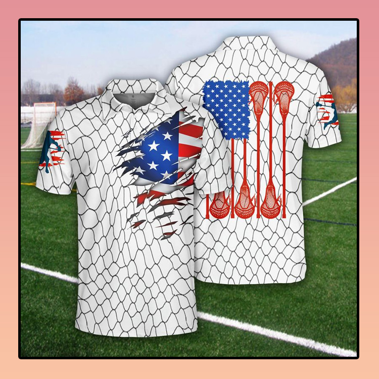 Lacrosse US Flag Polo Shirt3