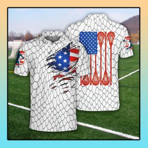 Lacrosse US Flag Polo Shirt4