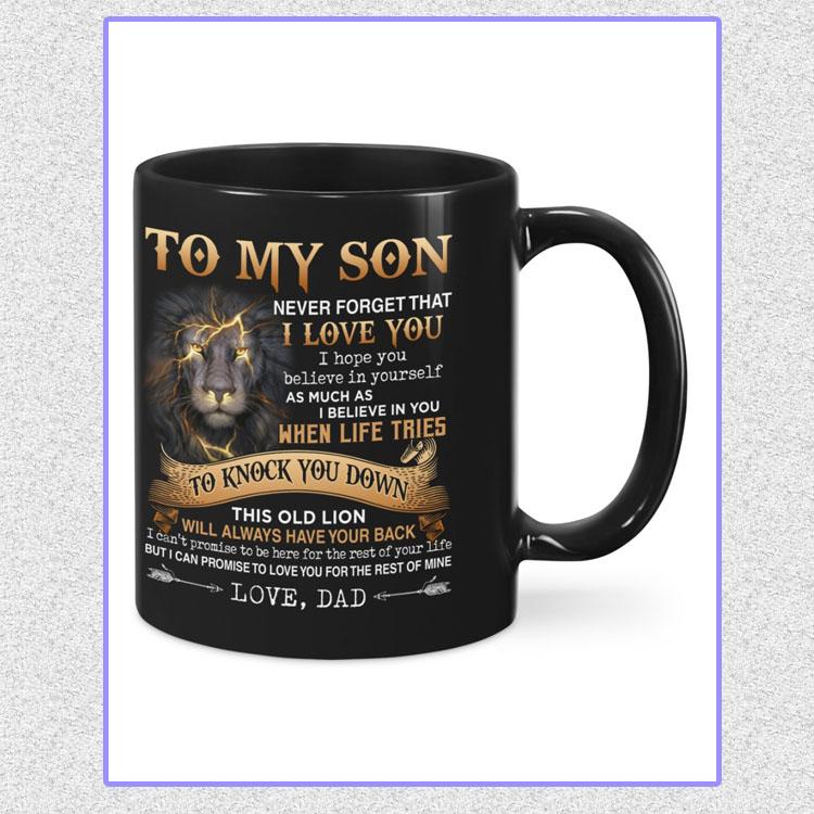 Lion to my son dad mug5