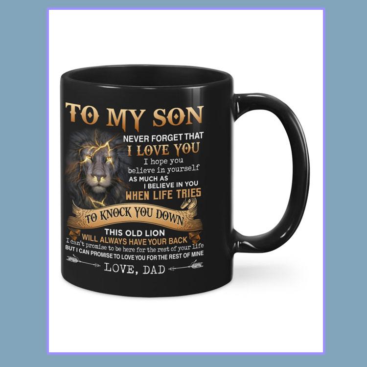 Lion to my son dad mug6
