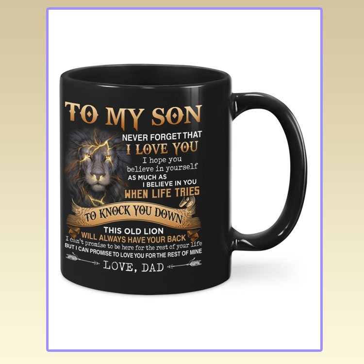 Lion to my son dad mug7