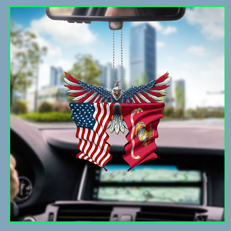 Marine corps United States American Eagle flag car hanging ornament5