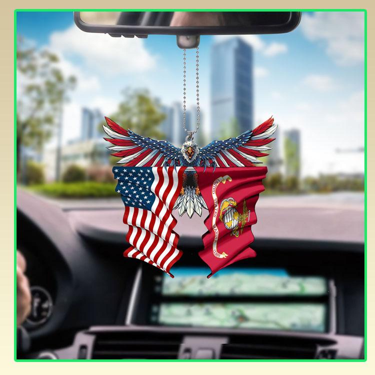 Marine corps United States American Eagle flag car hanging ornament6
