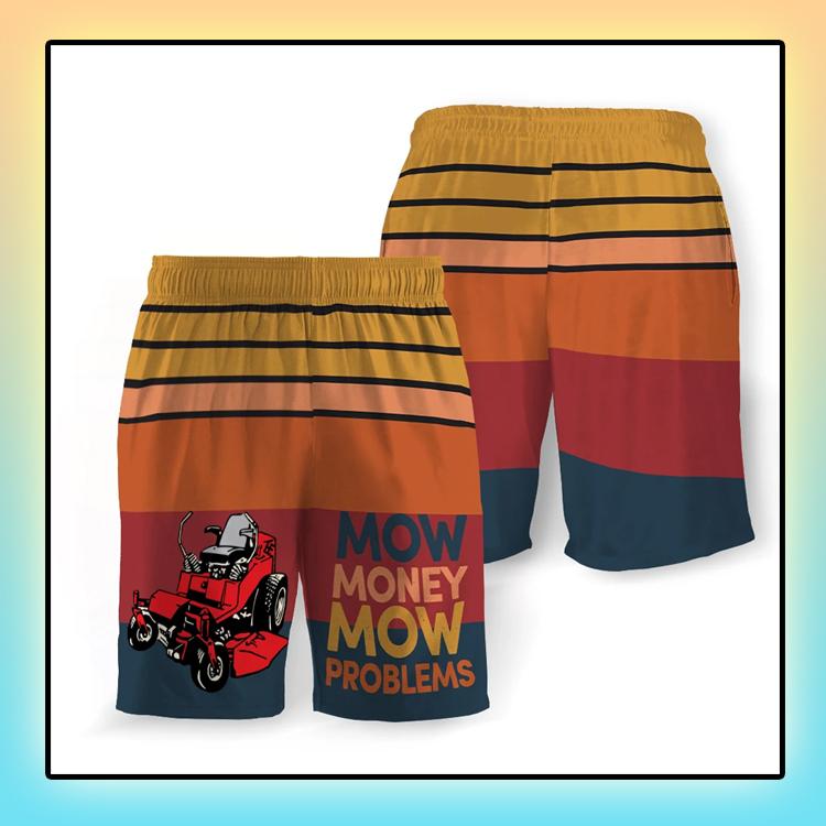 Mow Money Mow Problems Beach Short4