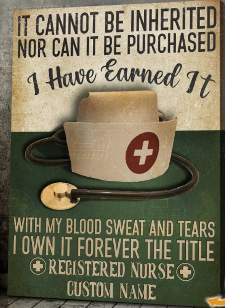 Nurse It cannot be inherited nor can it be purchased custom name canvas