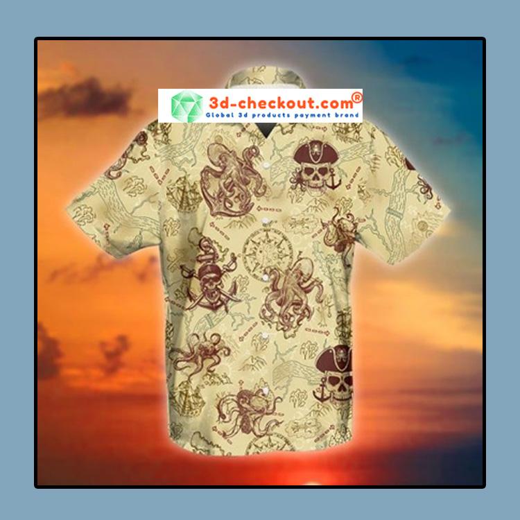Octopus pirate hawaiian shirt1