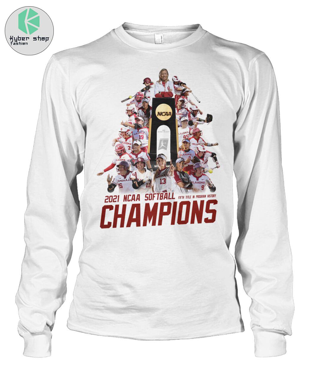 Oklahoma Sooners 2021 NCAA softball champions shirt 3