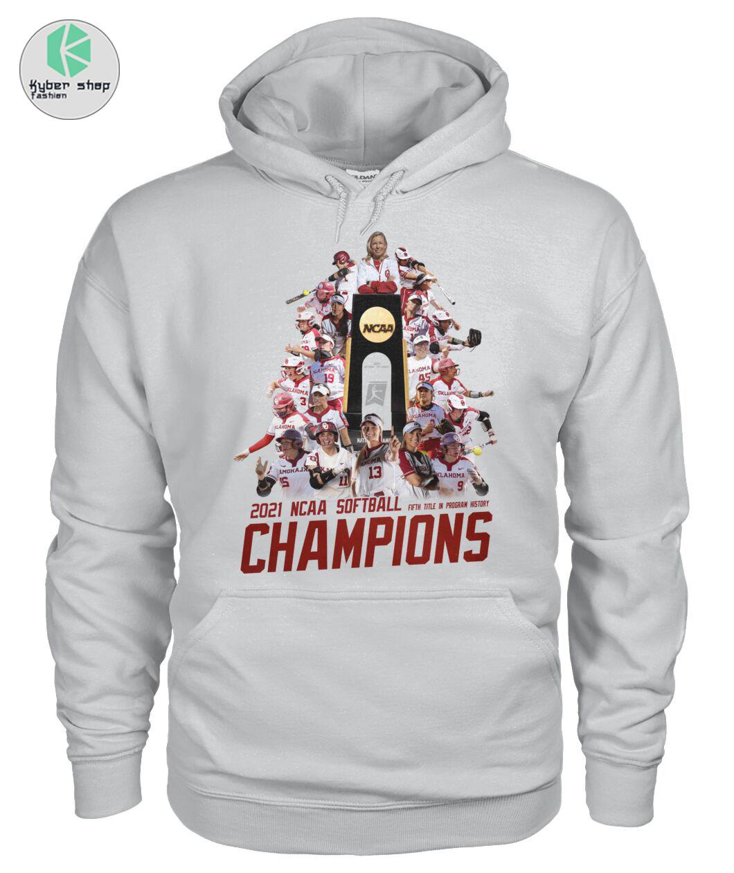 Oklahoma Sooners 2021 NCAA softball champions shirt 4