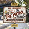Patio Grilling Red Listen To The Good Music custom name Metal Signs