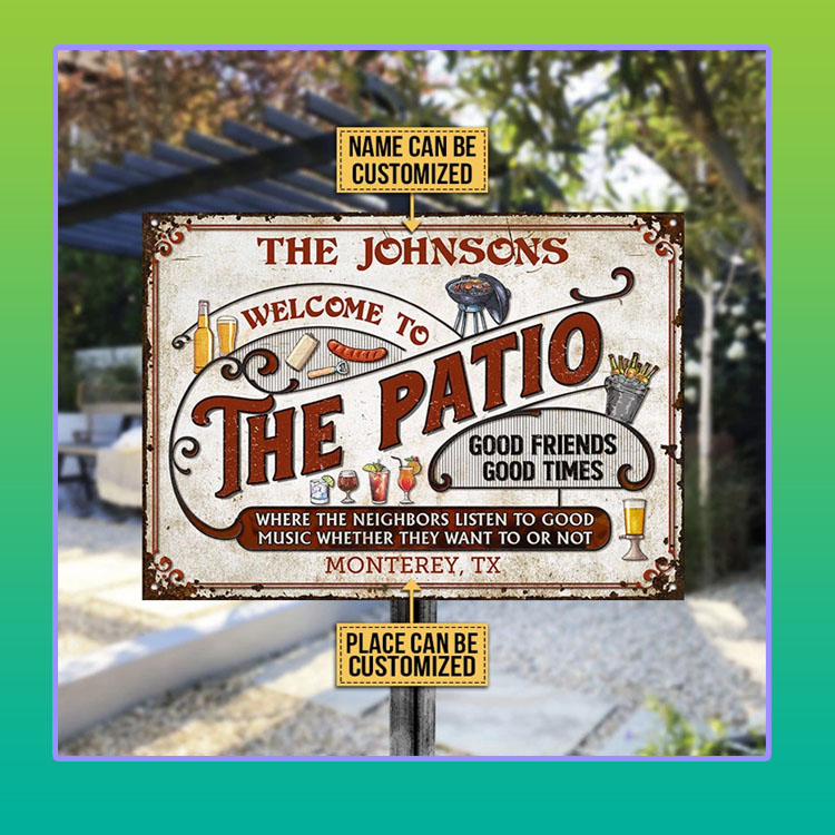 Patio Grilling Red Listen To The Good Music custom name Metal Signs4