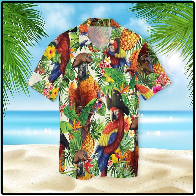 Pirate Parrot Hawaiian Shirt2